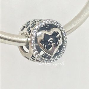Authentic PANDORA Mickey & Minnie Love Charm